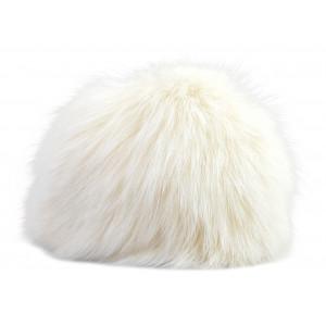 Pompon Kvast Kaninhår Hvid 90 mm