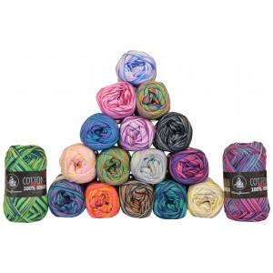 Mayflower Cotton 8/4 Garnpakke 17 farver Printgarn - 17 stk