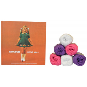 Bogen Retro Vol. 1 + Mayflower Cotton 8/4 garn til strikket Babysæt