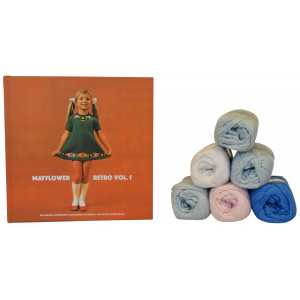 Bogen Retro Vol. 1 + Mayflower Cotton 8/4 garn til strikket Babydragt