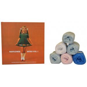 Bogen Retro Vol. 1 + Mayflower Cotton 8/4 garn til strikket Babydragt