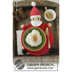 Brunch with Santa by DROPS Design - Dækkeserviet Hæklekit 22 cm