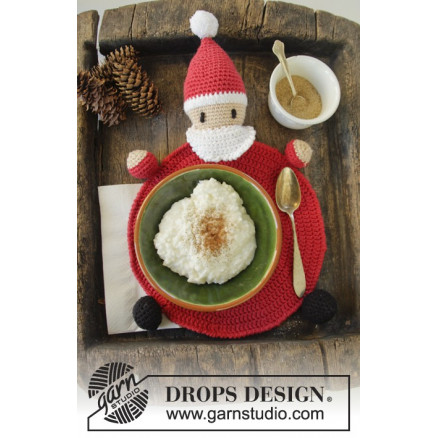 Image of   Brunch with Santa by DROPS Design - Dækkeserviet Hækleopskrift 22 cm