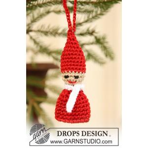 Santas Elf by DROPS Design - Julenisse Hæklekit 6 cm