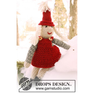 Mrs. Claus by DROPS Design - Julenisse Hækleopskrift 35 cm