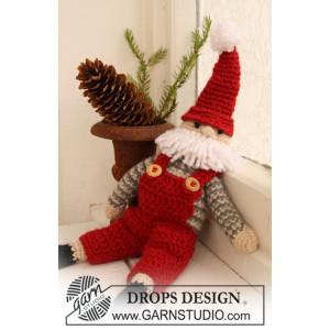 Santa Claus by DROPS Design - Julenisse Hækleopskrift 35 cm