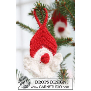 Red Nose Santa by DROPS Design - Julenisse Hæklekit 8 cm