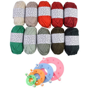 Pompon kit med Pompon maker og Rico Design Mini Bomuld Jul