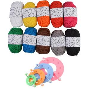 Pompon Maker og Rico Design Mini Bomuld Classic - Pompon Kit