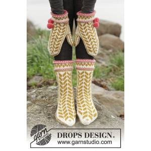 Hokey Pokey by DROPS Design - Vanter og sokker Strikkeopskrift str. 35/37 - 41/43