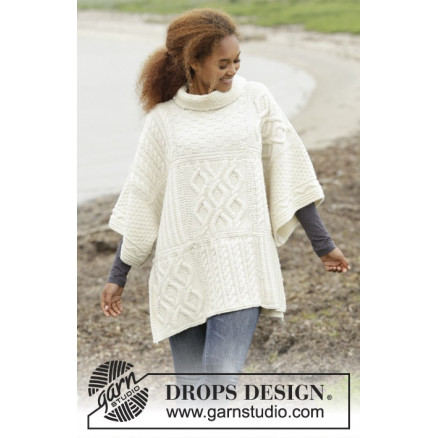 Image of   Comfort Chronicles by DROPS Design - Poncho Strikkeopskrift One-size