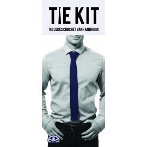 DMC Tie Kit - Slips Hæklekit Blå
