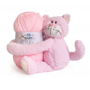 DMC Baby Hug - Babytæppe Strikkekit Lyserød