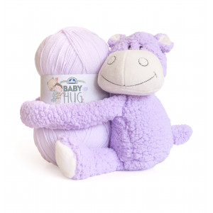 DMC Baby Hug - Babytæppe Strikkekit Lilla