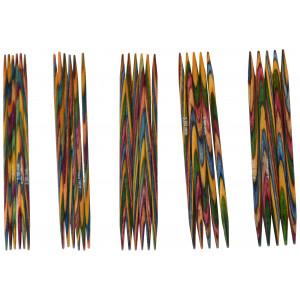 KnitPro Symfonie Strømpepindesæt Birk 10 cm 2-4 mm 5 størrelser