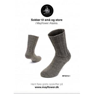 Mayflower Varme Sokker - Sokker Strikkeopskrift str. 23/24 - 43/44