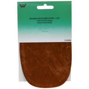 Albuelapper Imiteret Ruskind Oval Brun 10x15 cm - 2 stk
