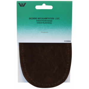 Albuelapper Imiteret Ruskind Oval Mørkebrun 10x15 cm - 2 stk