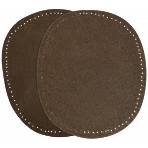 Albuelapper Ruskind Oval Mørkebrun 10,5x13,2 cm - 2 stk
