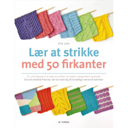 Image of   Lær at strikke med 50 firkanter - Bog af Che Lam