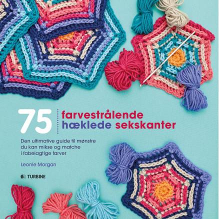Image of   75 Farvestrålende hæklede sekskanter - Bog af Leonie Morgan