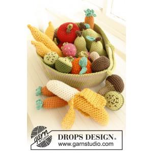 Tutti frutti by DROPS Design - Grøntsager og Frugter Hæklekit