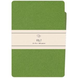 Go handmade Filt / Filtark Polyester Medium Grøn - 50x70cm
