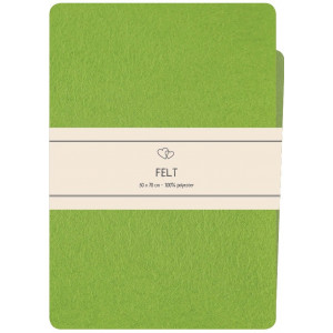 Go handmade Filt / Filtark Polyester Grøn - 50x70cm