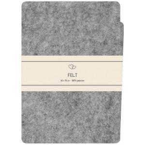 Go handmade Filt / Filtark Polyester Lys Grå - 50x70cm