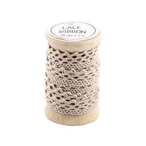 Go handmade Blondebånd Beige 2m 10mm