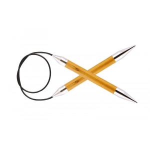 KnitPro Royalé Rundpinde Birk 80cm 12,00mm / 31.5in US17 Yellow Topaz