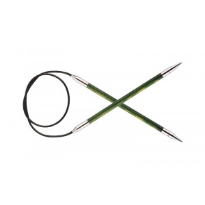 KnitPro Royalé Rundpinde Birk 120cm 5,50mm / 47.2in US9 Misty Green