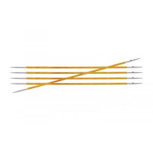 KnitPro Royalé Strømpepinde Birk 15cm 2,25mm / 5.9in US1 Orange Lily