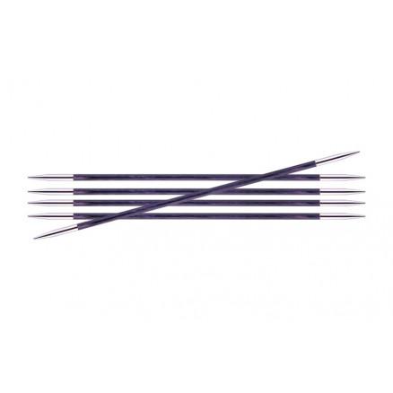 Image of   KnitPro Royalé Strømpepinde Birk 15cm 3,00mm / 5.9in US2.5 Purple Pass