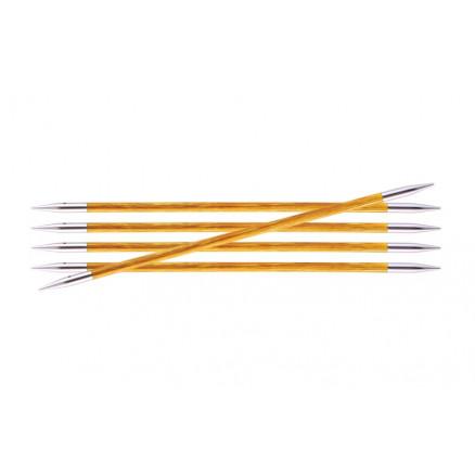 Image of   KnitPro Royalé Strømpepinde Birk 15cm 3,75mm / 5.9in US5 Orange Lily