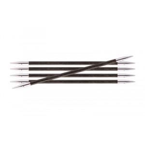 KnitPro Royalé Strømpepinde Birk 15cm 4,50mm / 5.9in US7 Grey Onyx
