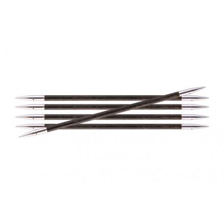 Image of   KnitPro Royalé Strømpepinde Birk 15cm 4,50mm / 5.9in US7 Grey Onyx