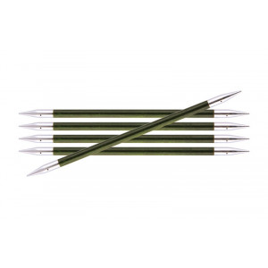 KnitPro Royalé Strømpepinde Birk 15cm 5,50mm / 5.9in US9 Misty Green