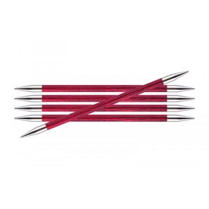 KnitPro Royalé Strømpepinde Birk 15cm 6,00mm / 5.9in US10 Candy Pink