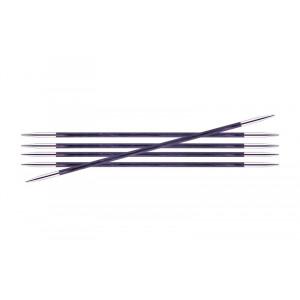 KnitPro Royalé Strømpepinde Birk 20cm 3,00mm / 7.9in US2.5 Purple Passion