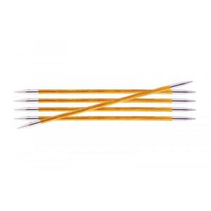 KnitPro Royalé Strømpepinde Birk 20cm 3,75mm / 7.9in US5 Orange Lily