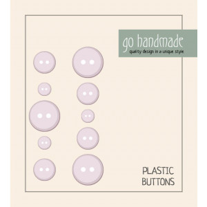 Image of   Go handmade Plastik Knapper Str. 9, 11 & 13mm Beige - 10 stk