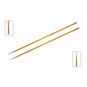 KnitPro Royalé Strikkepinde / Jumperpinde Birk 30cm 3,75mm / 11.8in US5 Orange Lily