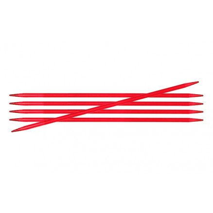 Image of   KnitPro Trendz Strømpepinde Akryl 15cm 3,50mm / 5.9in US4 Red