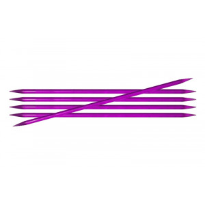 Image of   KnitPro Trendz Strømpepinde Akryl 15cm 5,00mm / 5.9in US8 Violet