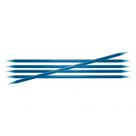 Image of   KnitPro Trendz Strømpepinde Akryl 15cm 5,50mm / 5.9in US9 Turquoise