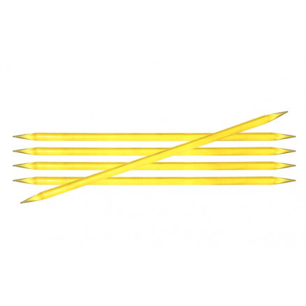 Image of   KnitPro Trendz Strømpepinde Akryl 15cm 6,00mm / 5.9in US10 Yellow
