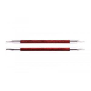KnitPro Royalé Korte Udskiftelige Rundpinde Birk 9cm 5,00mm / US8 Cherry Blossom