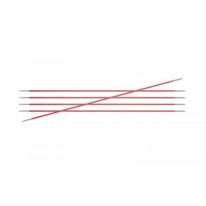 KnitPro Zing Strømpepinde Aluminium 15cm 2,00mm / 5.9in US0 Coral