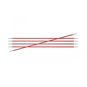 KnitPro Zing Strømpepinde Aluminium 15cm 2,50mm / 5.9in US1½ Garnet